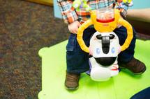 toddler at a church nursery