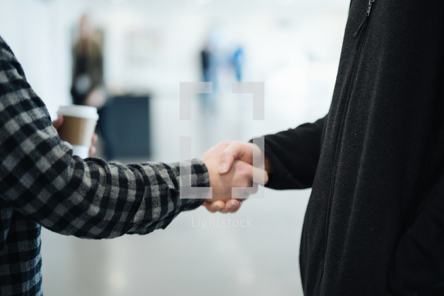 handshake at church
