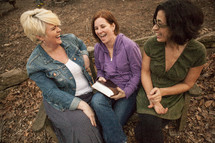 outdoor Bible study and friendship