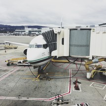 plane at the terminal