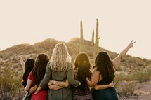 women's group standing together