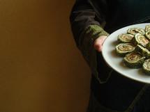 offering homemade food, server