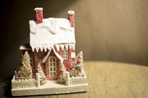 miniature village Christmas houses decoration