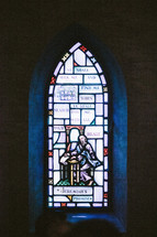 Stained glass window of Jeremiah's promise