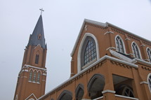 Traditional Church and Tower in China