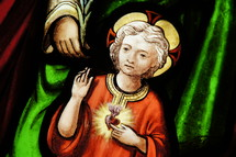 Stained Glass Window. The Christ Child.
