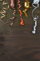 gift wrap ribbon in fall colors