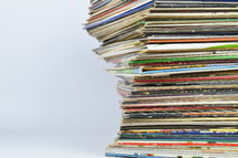 stacked records
