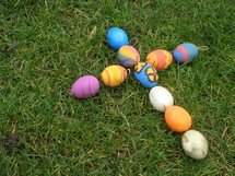 Cross out of colored Easter eggs,