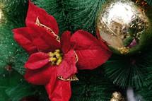 Christmas decor on a Christmas tree