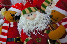 Christmas Santa and teddy bear decorations