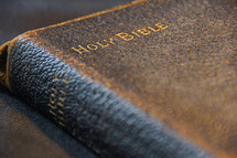 Ancient, antique, leather bound, King James Holy Bible