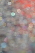 Colorful bokeh for worship background.