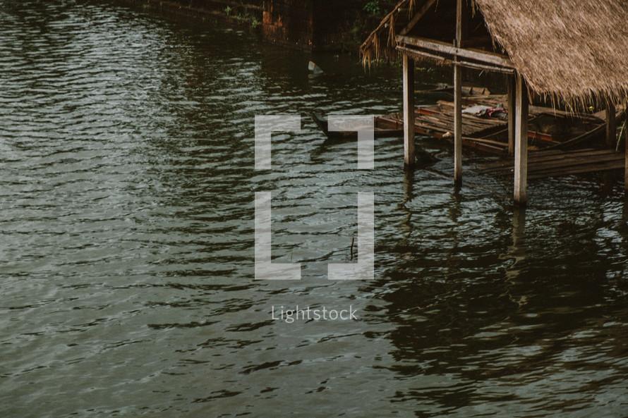 boat dock in Cambodia