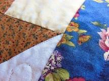 closeup of a quilt