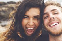 a joyful couple