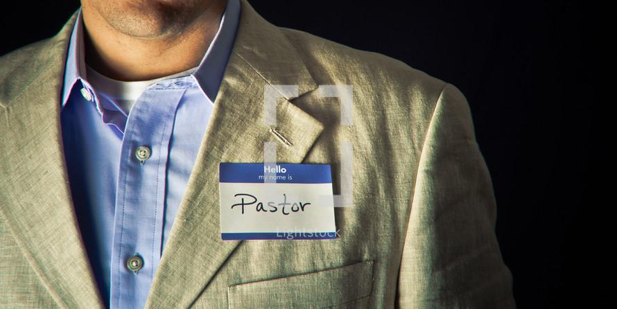 name tag - Pastor