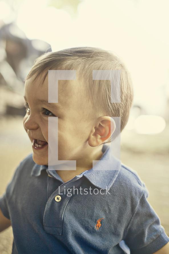 toddler boy - smiling