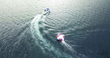 summer boating and tubing for fun