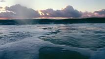waves and ocean water