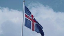 Flag of Iceland on a flagpole
