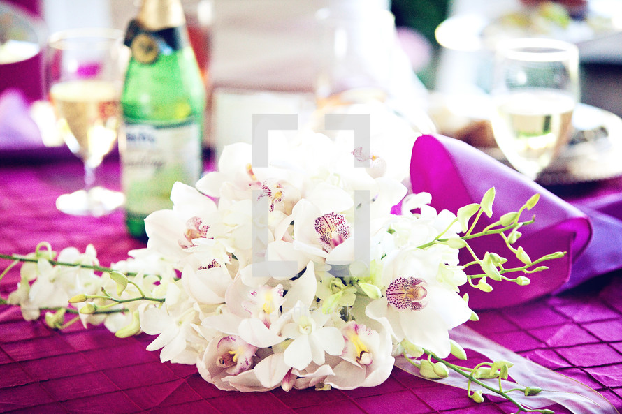 orchid flower centerpiece