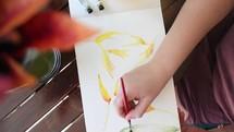 watercoloring painting