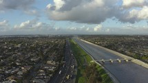 freeway and suburbs