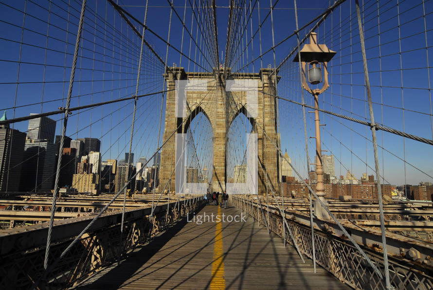 Brooklyn Bridge pedestrian way