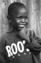 Smiling boy in Sudan.