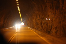 light at the end of a highway tunnel