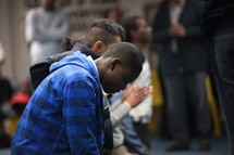 men in prayer
