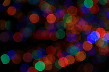 colorful bokeh Christmas lights