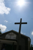 Cross on small church