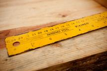 hardened steel ruler