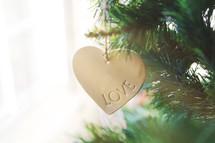 """""""Love"""" ornament"""