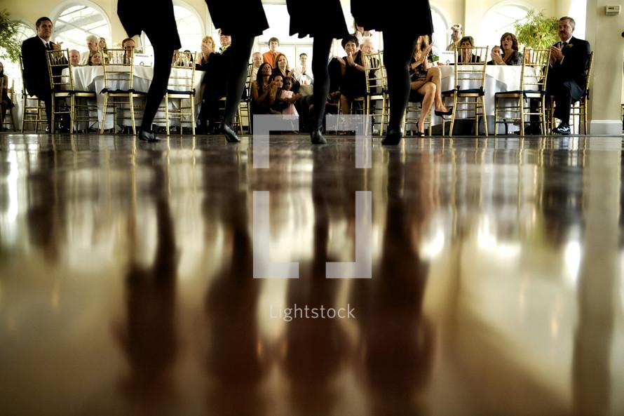 dancers at a wedding