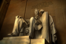 statue of Lincoln in the Lincoln Memorial