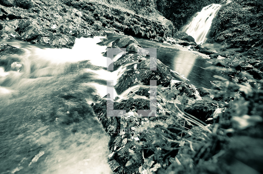 Creek waterfall stream