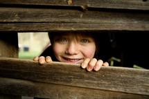 peeping child