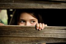 peeping girl child