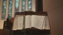 Gospel book at the altar
