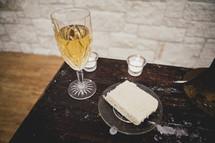 wine and cake