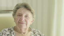 Senior caucasian woman looking at camera