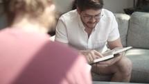 men's group Bible study, men discussing scripture