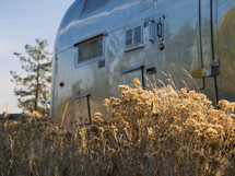 camper in a field