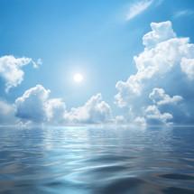 water under a blue sky