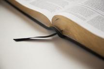 bookmark and an open Bible