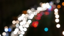 stopped cars and headlights in heavy traffic - bokeh