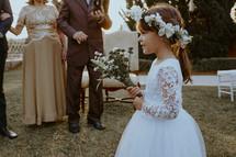 flower girl at a wedding